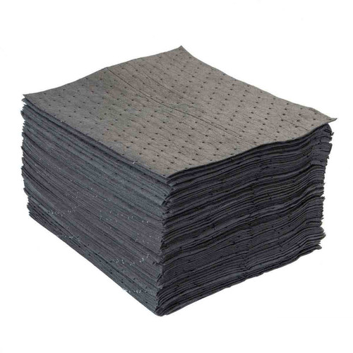 Universal Absorbent Pads 15x18 Gray, shown in a stack