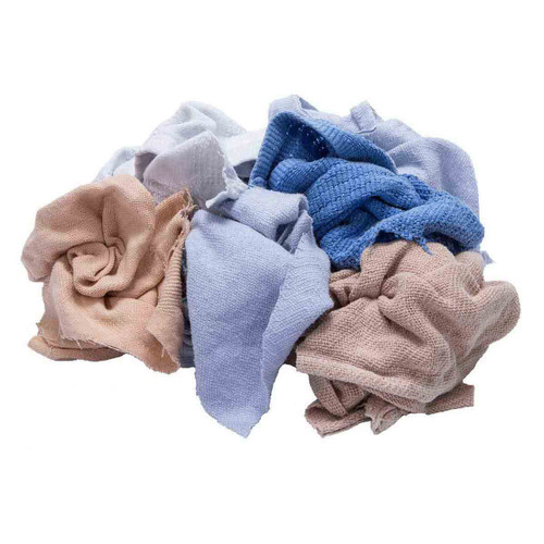 Thermal Rags Bulk Recycled Mixed Colors, shown crumpled