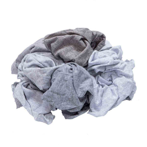 T-shirt Rags Bulk New Gray, shown crumpled