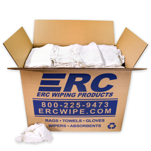 White Shop Towels, shown in a 50 lb. box