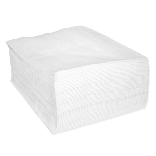 Sontara Cloth-Like Wipers Creped Quarter Fold White, shown in a stack