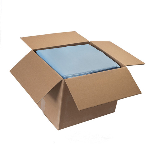 Sontara Cloth-Like Wipers Bulk Smooth Flat Blue, shown boxed