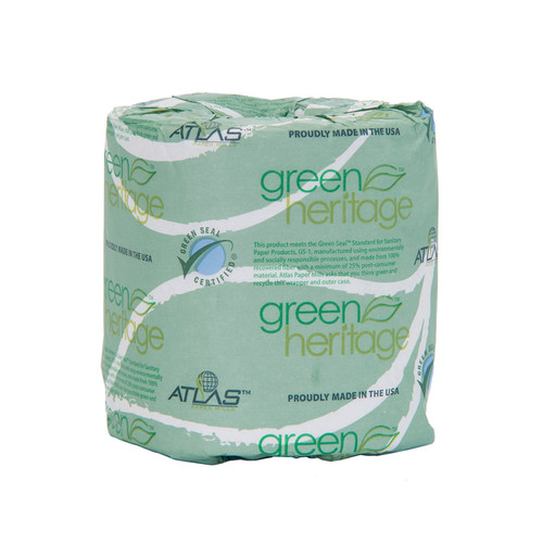 Standard household size rolls 2-ply toilet tissue sold by the case in fancy white.
