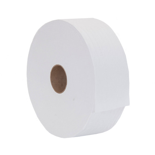 Toilet Tissue SCA Tork® Jumbo Roll 2-Ply, shown on its side