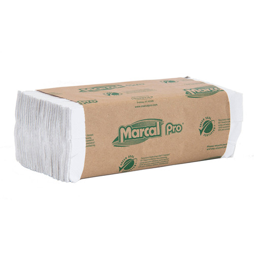 Paper Towels C-Fold White, shown in a sealed stack