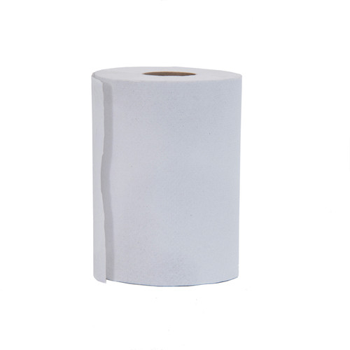 Paper Towel Rolls for Crank and Lever Dispensers White, shown upright