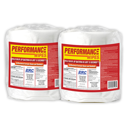 ERC Performance Disinfecting Wipes 2 Rolls - GSA, shown upright in a group of two