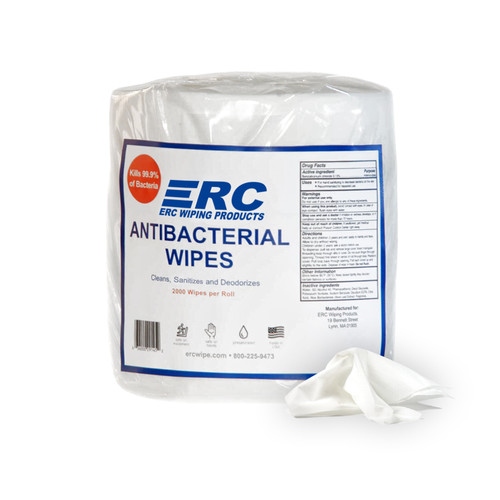 Antibacterial Gym Wipes, single bag shown