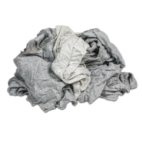 Polo/T-shirt Rags Bulk Recycled Gray, shown in a pile
