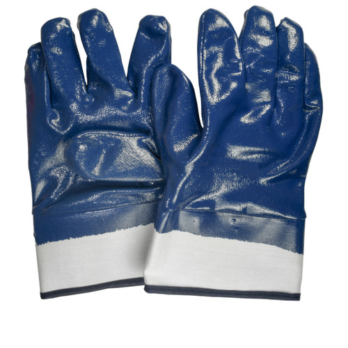 Nitrile Coated Gloves Jersey Lined Smooth Finish, shown front and back