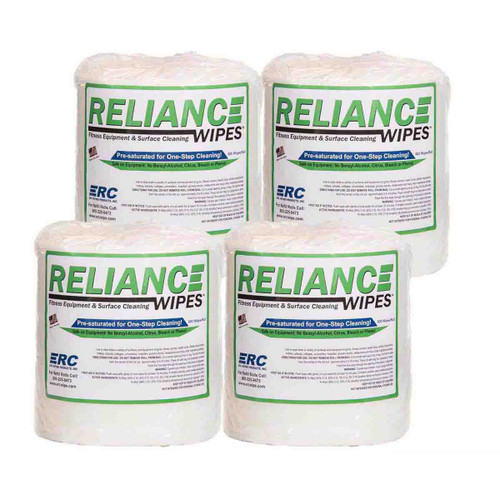 ERC Reliance Wipes 4 Rolls, shown as a set