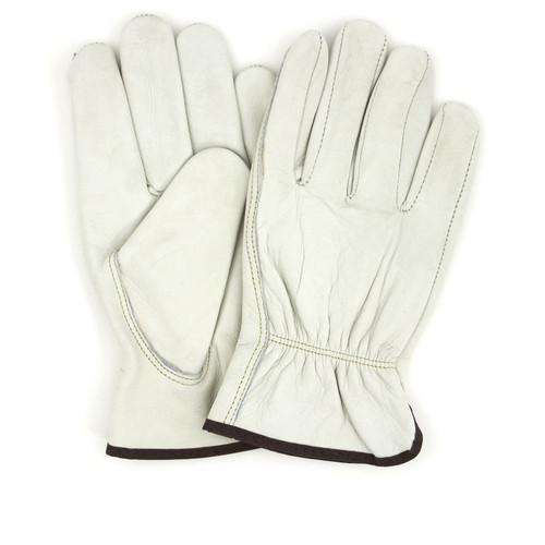 Pigskin Driver Gloves Standard Grain, shown front and back