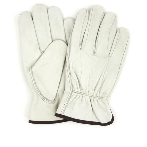 Pigskin Driver Gloves Standard Grain, shown front and back