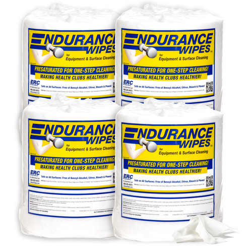 Endurance Gym Wipes  - 4 Rolls - 900 Wipes per Roll