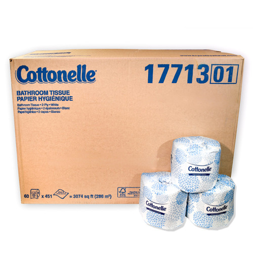 Toilet Paper Tissue 60 Rolls Count   2PLY Cottonelle