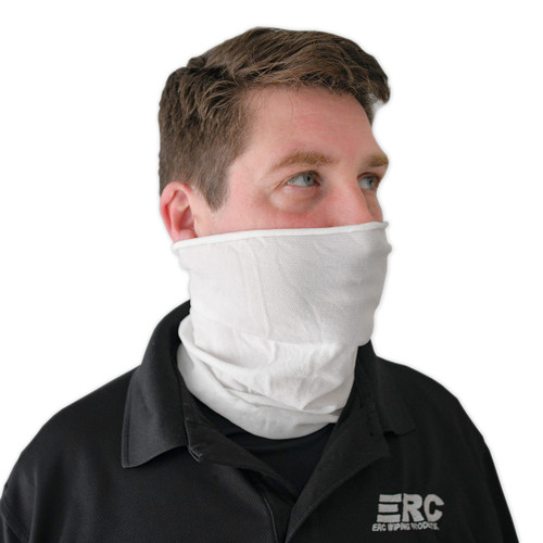 Wholesale Face Covers Polyester White
