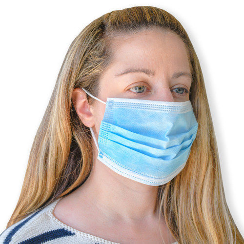 Disposable Ear Loop Face Masks, shown from the side