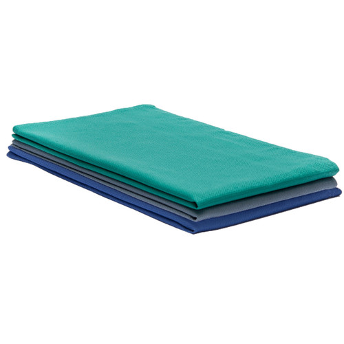 Huck towels heavyweight 100% cotton, shown in a stack with one of each color