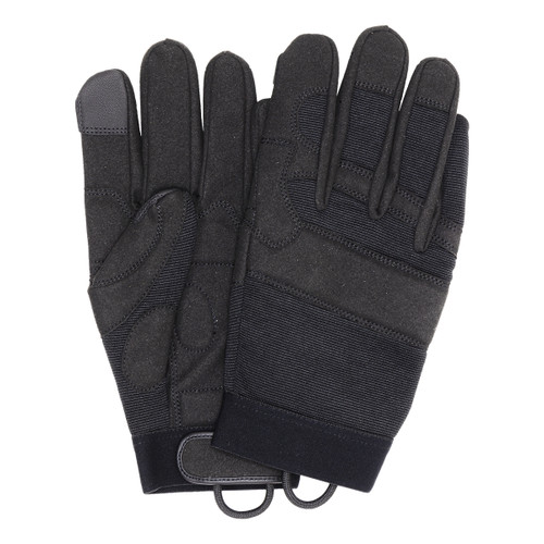 Mechanics Gloves with Padded Palm, shown front and back