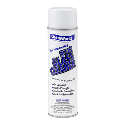 Great Glass Cleaner Non-Ammoniated, single can shown.