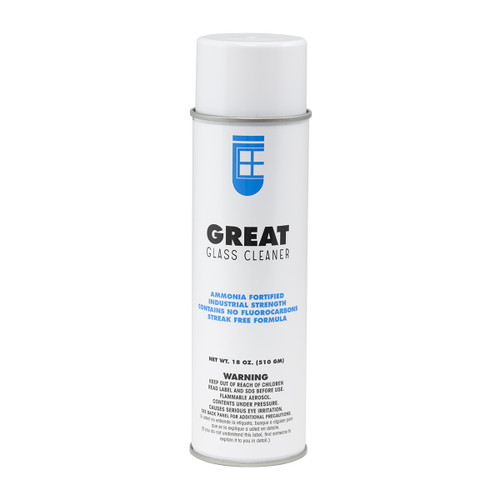 Great Glass Cleaner, single can shown