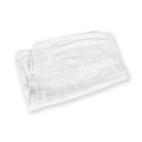 White Terry Grill Pad, single towel shown