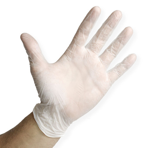 Translucent Nitrile Gloves Powder Free - 2.5 Mil, shown palm out