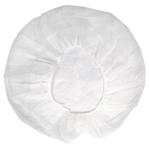 "Bouffant Caps 21"" Polypropylene, shown flat"