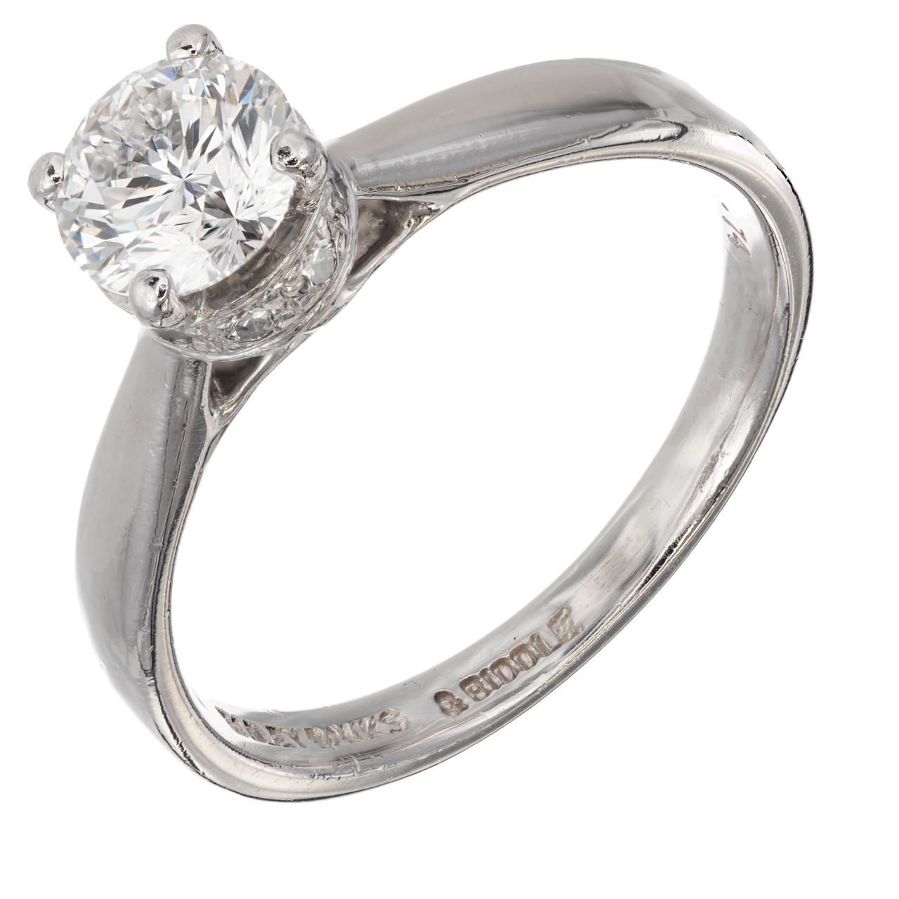 Bailey Banks Biddle 74 Carat Diamond Solitaire Platinum Engagement Ring Petersuchyjewelers