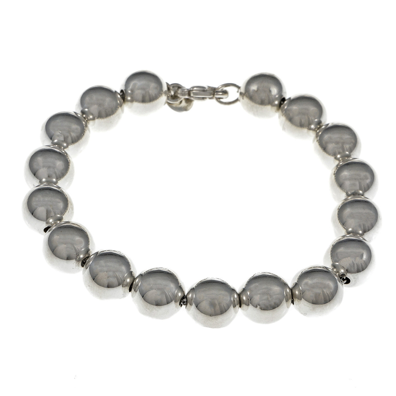 f299607b9 Tiffany & Co Bead Bracelet Sterling Silver 10mm - petersuchyjewelers