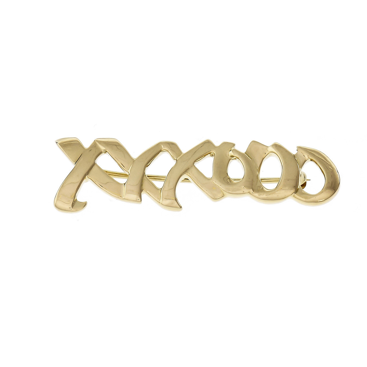 "94ae70968 Tiffany & Co Paloma Picasso ""XO"" Signature 18k Gold Pin - petersuchyjewelers"