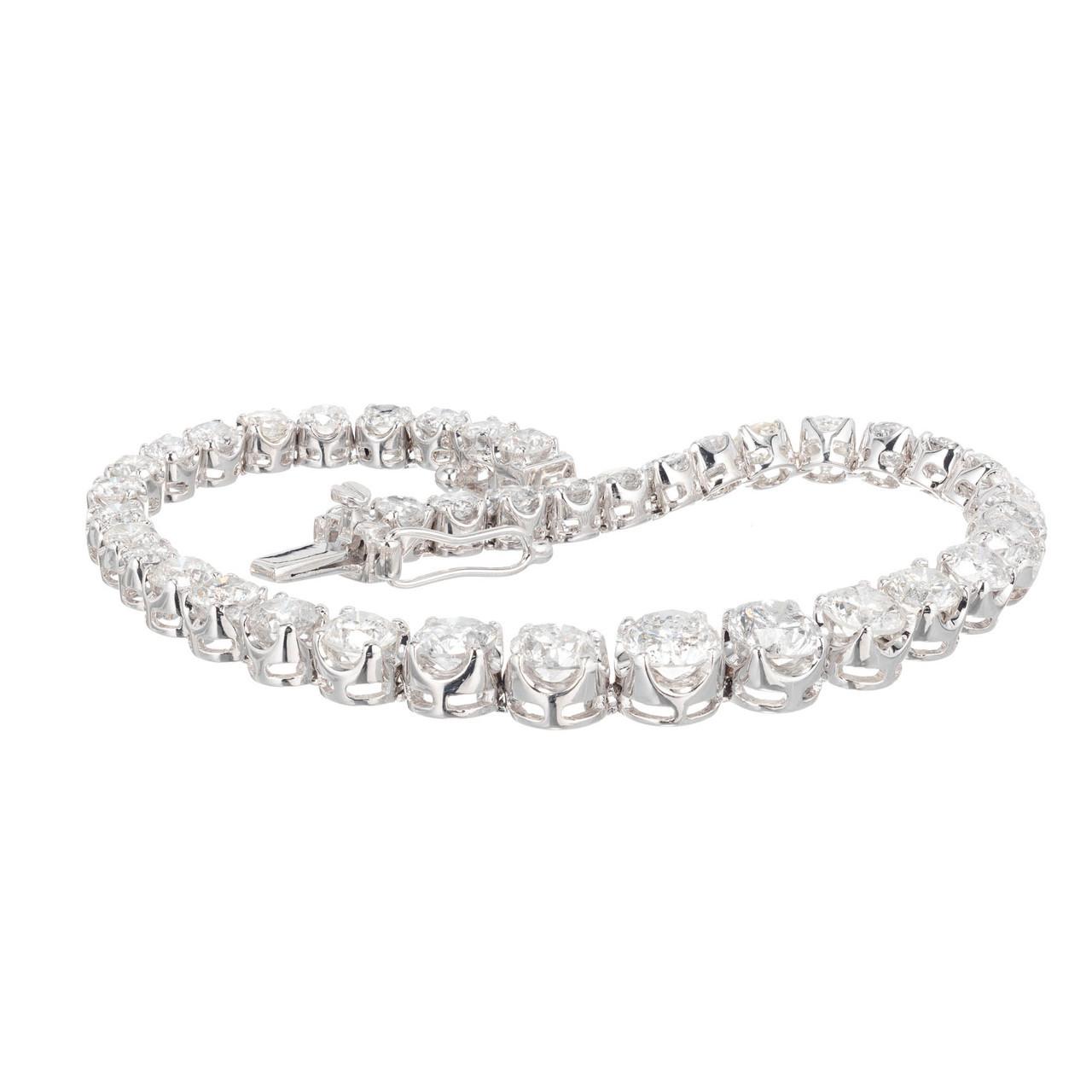 7136052509710 Orianne Graduated 8.00ct Diamond Bracelet 14k White Gold