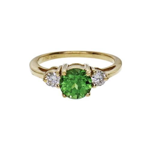 Peter Suchy Tsavorite Diamond Garnet Ring 14k Gold