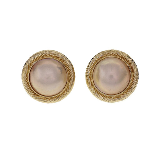 Mabé Pearl 15mm clip post earrings