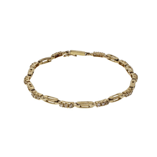 .30cts Diamond hinged link yellow gold bracelet