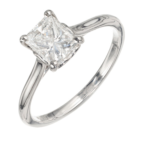 Peter Suchy GIA Certified 1.04 Carat Diamond Platinum Solitaire Engagement Ring