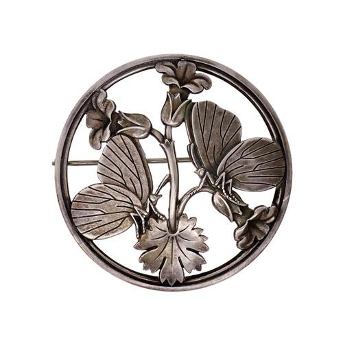 Classic George Jensen Sterling Silver Butterfly Broach #283