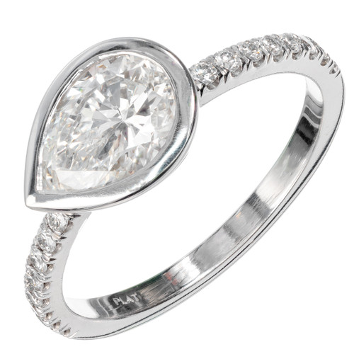 Peter Suchy GIA Certified 1.27 Carat Diamond Platinum Engagement Ring