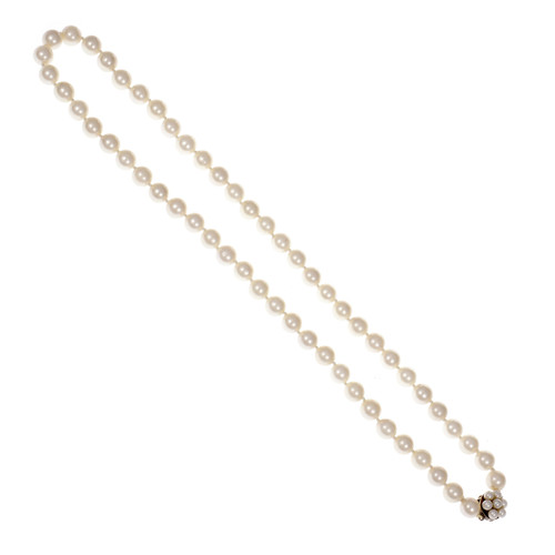 Cultured Pearl Necklace 20 Inches 8 – 8.5mm 14k Gold