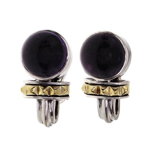Lagos Caviar Sterling 18k Clip Post Earrings