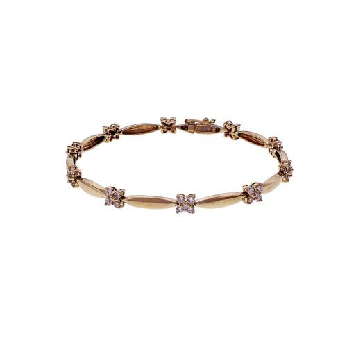 Estate 1.40ct Diamond Bracelet 14k Yellow Gold