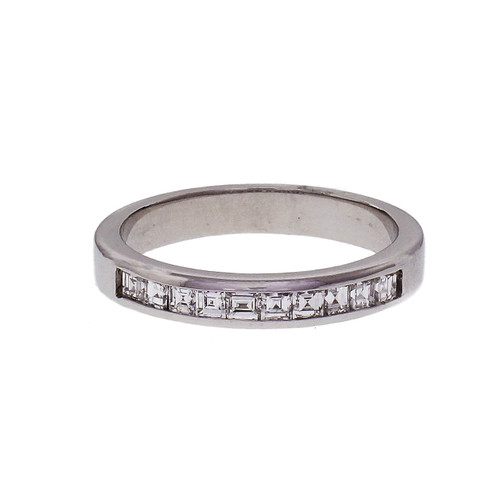 Peter Suchy Square Cut Diamond Platinum Channel Band 0.62ct