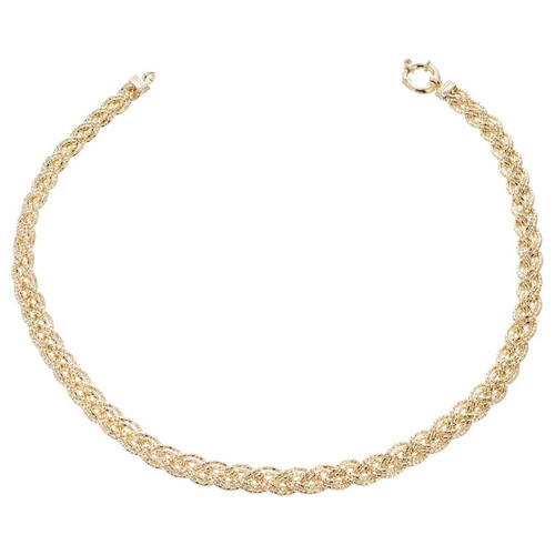14k Yellow Gold Double Braided Chain Necklace