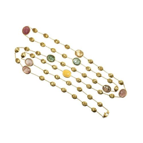 Marco Bicego 52.00 Carat Sapphire 18 Karat Gold Siviglia Collection Necklace