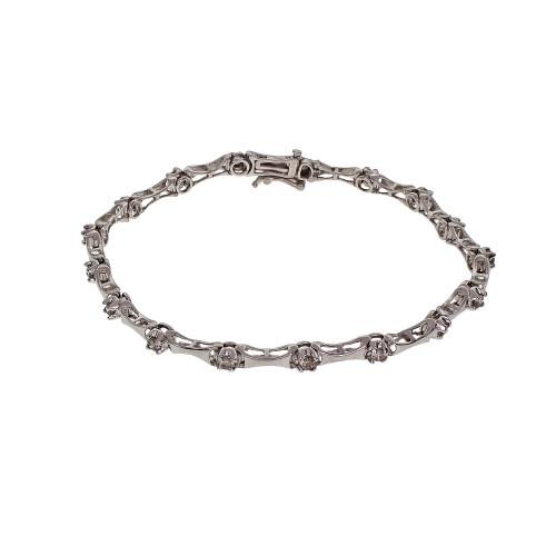 Platinum Diamond Bracelet 0.85ct