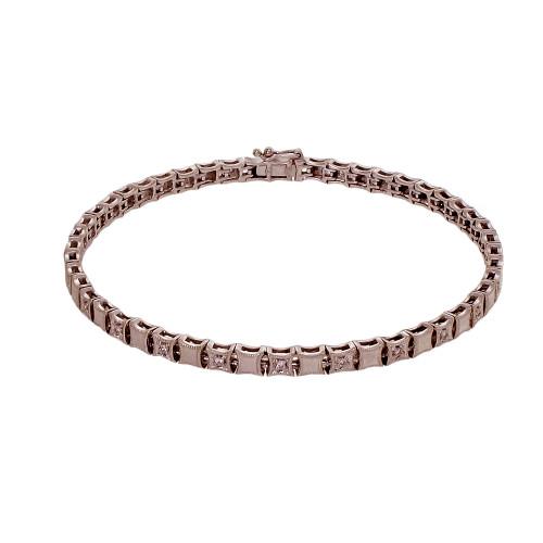 Estate Diamond Bracelet 0.24ct 14k White Gold