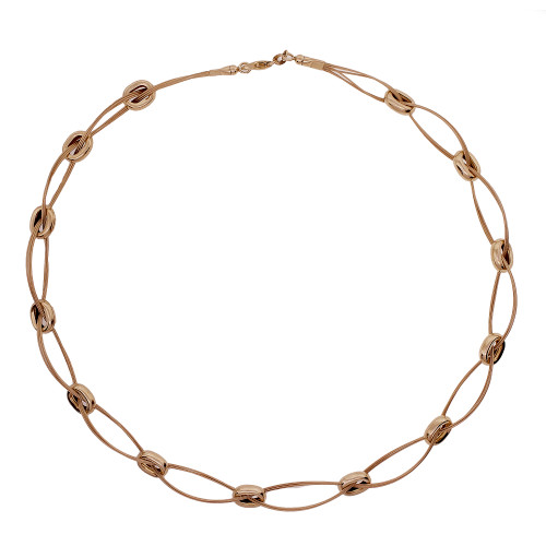 Oval Loop Link Necklace © 1995 14k Yellow Gold