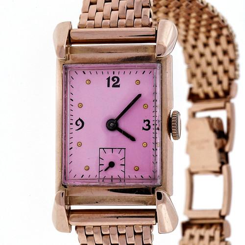 Academy Award Oscar 1949 Bulova 14k Pink Gold 21 Jewel 7AK Watch Ladies Men's