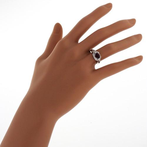 Antique Art Deco Purplish Pink Certified 1.29ct Burma Ruby Platinum Diamond Ring