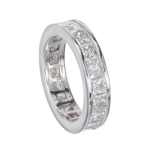 Peter Suchy 4.32 Carat Diamond Platinum Eternity Ring